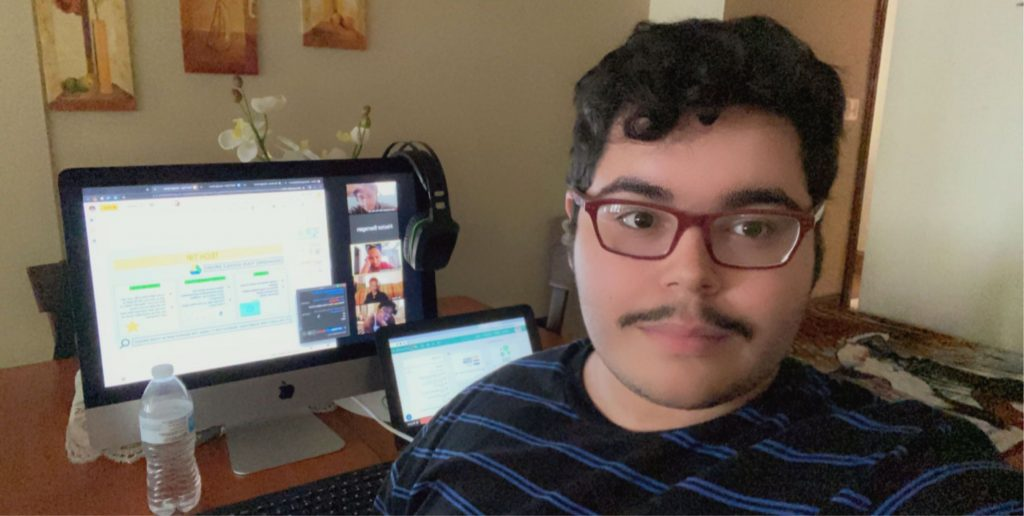 Tech TA Hector at his work space